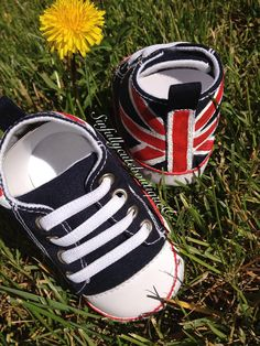 Union Jack British Flag Baby Sneakers Size 9M to 12M on Etsy, $20.00
