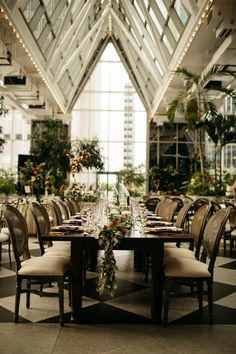 Strikingly Unique Wedding at PPG Wintergarden. Find more wedding ideas at burghbrides.com! #weddingtablescape #weddingtabledecor #weddingtableinspiration #weddingreceptioninspiration