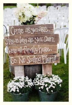 Our wedding topic today is rustic wedding signs.Why we use wedding signs in our weddings? Awesome wedding signs are great wedding decor for wedding ceremony and reception, at the same time, they will also serve many . Barn Wedding Decorations, Rustic Wedding Signs, Rustic Weddings, Ceremony Decorations, Wedding Country, Rustic Signs, Wedding Signage, Vintage Weddings, Wooden Signs