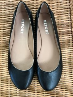 27b5f59496f Black flats by REPORT size 8.5  fashion  clothing  shoes  accessories   womensshoes  flats (ebay link)