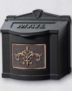 Our Fleur-de-Lis Wall-mount Mailbox lets you enjoy mail delivery right outside your door while adding a decorative touch to your entryway. This cast aluminum mailbox is available in five color options to complement any décor.