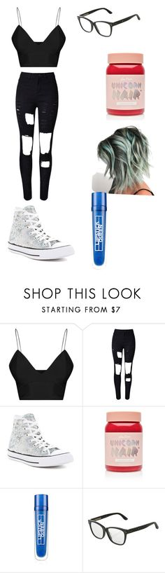 """""""Untitled #40"""" by blossom-galaxy666 on Polyvore featuring WithChic, Converse, Lime Crime, Lipstick Queen and Bottega Veneta"""