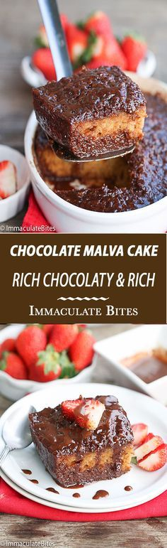 Malva Pudding Chocolate -A Decadent traditional South African Dessert that you just have to try! Rich, Moist, Chocolaty and Oh so easy!