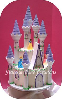 Disney Princess Castle Cake by Graceful Cake Creations, via Flickr