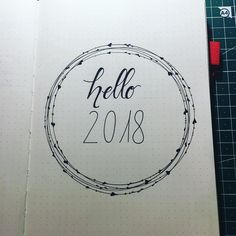 Bullet journal yearly cover page. | @crafting_by_anne