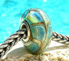 WATER SNAIL OPAL Fully Lined Sterling Silver Big by beachlifebeads, $25.00