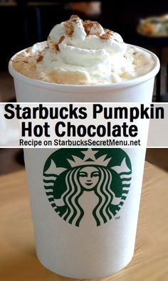 Starbucks Pumpkin Hot Chocolate! #starbuckssecretmenu How to order: http://starbuckssecretmenu.net/pumpkin-hot-chocolate-starbucks-secret-menu/