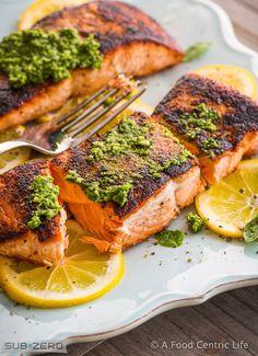Simple-Seared-Salmon Recipe - RecipeChart.com #MainDish #Seafood
