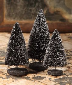 Black Trees with Mica from The Holiday Barn