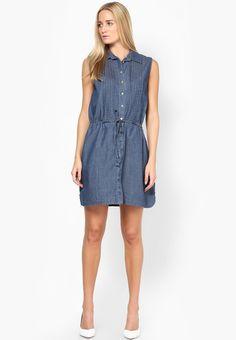 4c631bcf559 Buy Nautica Blue Colored Solid Shift Dress Online - 3497144 - Jabong