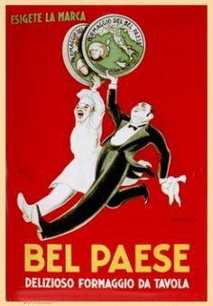 Vintage: i poster d'epoca di formaggio.it  Bel Paese Galbani 1929