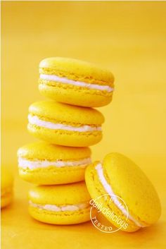 Yellow Macarons- build a tower?