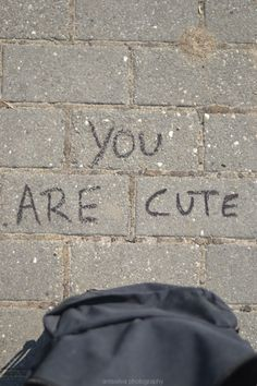 """""""You are cute"""" You Are Cute, Tumblr Quotes, My Vibe, Mood Quotes, Cute Quotes, Aesthetic Pictures, Make Me Happy, Believe, Positivity"""