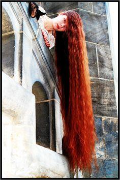 mooi rood is niet lelijk ♥ Red hair - Rupunzel let down your hair Long Red Hair, Very Long Hair, Beautiful Redhead, Beautiful Long Hair, Down Hairstyles, Straight Hairstyles, Curly Hair Styles, Natural Hair Styles, Rapunzel Hair