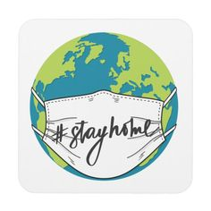 Shop Earth Stay Home Save Lives Beverage Coaster created by PatternPapers. Eid Stickers, Bumper Stickers, 3d Pencil Drawings, Save Planet Earth, Life Poster, Love Your Family, Funny Signs, Funny Memes, Nurse Quotes