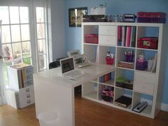 I Already Pinned The Empty Version Of This Ikea Bookcase And Desk Here S An Example