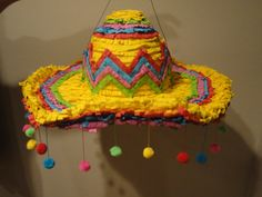 Items similar to Sombrero Pinata on Etsy Mexican Fiesta Party, Fiesta Theme Party, Party Themes, Party Ideas, Paper Mache Diy, Arte Latina, Wild West Party, Mexican Crafts, Flamingo Birthday