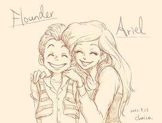 Ariel & Human!Flounder