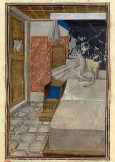 Conception of Alexander the Great, Les faize d' Alexandre (translation of Historiae Alexandri Magni of Quintus Curtius Rufus), Bruges ca. 1468-1475 (British Library, Burney 169, fol. 14r)