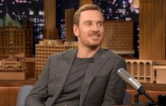 Michael Fassbender Visits The Tonight Show Starring Jimmy Fallon in Thom Sweeney