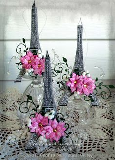 Chocolate Crafts and Bears, Oh My! Eiffel Tower Ornaments