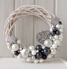 Are you looking for inspiration for christmas wreaths?Check out the post right here for unique Xmas ideas.May the season bring you joy. Decoration Christmas, Noel Christmas, Xmas Decorations, Christmas Quotes, Diy Wreath, Ornament Wreath, Wreath Ideas, Diy And Crafts, Christmas Crafts