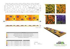 http://ZielonaTerapia.pl portfolio | Projekt nowoczesnego kwietnika sezonowego. Rośliny wybrane dla stworzenia kontrastu kolorystycznego i walorów zapachowych. | http://ZielonaTerapia.pl/portfolio/zielen-publiczna-kwietnik-sezonowy/