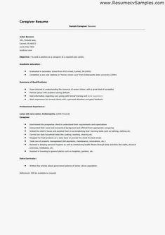 Caregiver Experience Resume Caregiver Experience Resume Caregiver Resume No Experience Child Care Experien In 2020 Resume Tips No Experience Resume Tips Caregiver Jobs