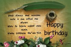 Birthday wishes quotes and poems for a teacher teacher gifts may happiness and all good tidings be your portion on this very special day wishing you a happy birthday sir birthday wishes for teacher m4hsunfo