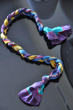 diy braided scarf headband (or bracelet)
