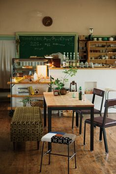 cafe style dining + kitchen