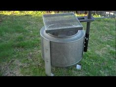 How to build this really cool WASHING MACHINE DRUM FIRE PIT -You can see from the example in the video that by fixing some legs to a washing machine drum you can easily make a simple fire pit out of a scrap washing machine. It's then up to you if you go on to include a grill, griddle and pot stand. HigleyMetals.com