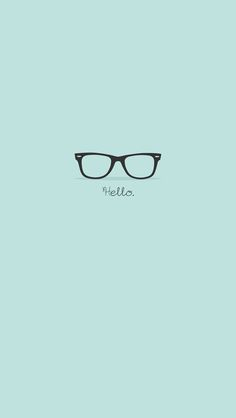 Flat Hipster Glasses Turquoise iPhone 5 Wallpaper / iPod Wallpaper HD - Free Download