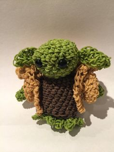Star Wars Yoda Rubber Band Figure by BBLNCreations on Etsy  Loomigurumi Amigurumi Rainbow Loom