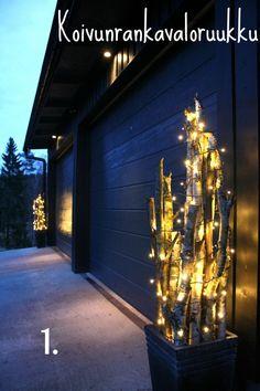 Ulkovaloilla särmää pihapiiriin ja piristystä harmauteen - TS Koti Christmas Inspiration, Garden Inspiration, Christmas Crafts, Christmas Decorations, Backyard Plan, Home Porch, Winter Light, Green Rooms, Merry Xmas