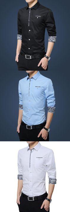 Mens Casual Shirts Long Sleeve Shirt Mens Dress Shirts Print White Shirt Male Cotton Chemise Homme Floral Camisa Plus Size M-5XL