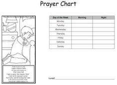 Boy and girl prayer charts
