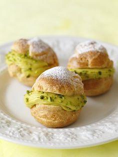 【ELLE a table】ピスタチオのシュークリームレシピ エル・オンライン cream puff - pistachio
