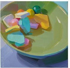#KarenONeil | Candy Dish. #painting #stilllife