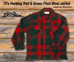 LL Bean 70's Hunting wool plaid jacket
