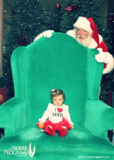 Santa picture. I should've done this with Rylie so she couldn't see him lol
