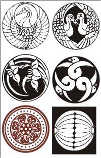 Vector Clip Art - Japanese mons & dingbats