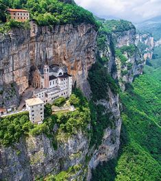 The Madonna della Corona Sanctuary near Verona, Italy. More on www. - The Madonna della Corona Sanctuary near Verona, Italy. More on www. Places Around The World, The Places Youll Go, Places To See, Italy Vacation, Italy Travel, Wonderful Places, Beautiful Places, Places To Travel, Travel Destinations