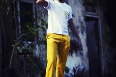 Bright Mustard Yellow Chinos... I don't think I'm ready to wear them, but they're dope.