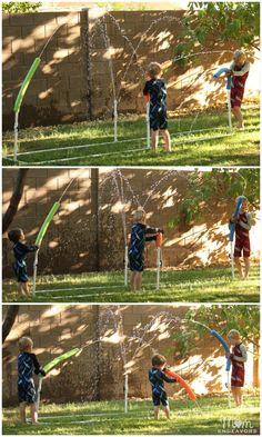 DIY Water Play Sprinkler for Kids