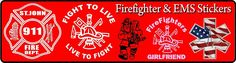 Show your support with firefighter and emt stickers