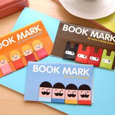 Character Magnetic Bookmarks (4pcs)