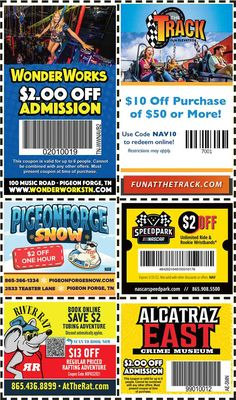 Smoky Mountains - Pigeon Forge Coupons - Gatlinburg Discount Coupons Gatlinburg Coupons, Gatlinburg Vacation, Tennessee Vacation, Smoky Mountains Attractions, Mountain Vacations, Shopping Coupons, Pigeon Forge, Discount Coupons, Amusement Park