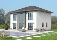 Beliebt bei unseren Kunden: Modernes #Massivhaus mit #Walmdach!  Mehr Informationen über Herwig #Haus und unsere #Massivhäuser gibt es unter: www.herwig-haus.de