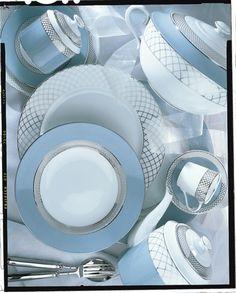 #Vajilla de #porcelana Organza, de Porcelanas Spal
